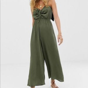 ASOS Olive Green Cami Jumpsuit Size US 4